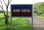 Foreskin Press hump ahead joke indian road sign madras chennai india chennai 1