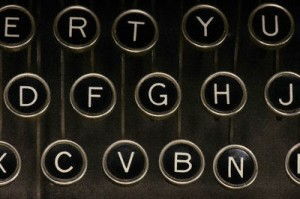 Foreskin Press Old Style Typewriter Keys Alphabet