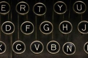Foreskin Press Old Style Typewriter Keys Alphabet